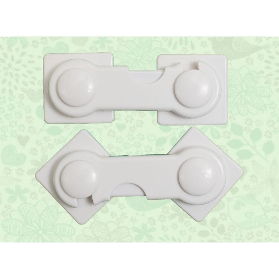 Замки-защита на дверцы шкафов, 2 шт в наборе  Baby-Walz (636517)