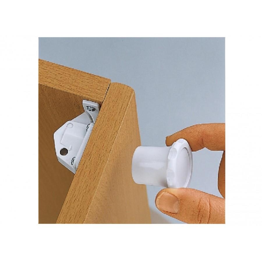 Магнитные замки и магнитный ключ для дверей (4 замка, 1 ключ)  Reer (277762)