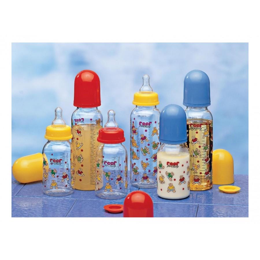 Набор бутылочек с силиконовыми сосками, 6 шт  Reer (286800)