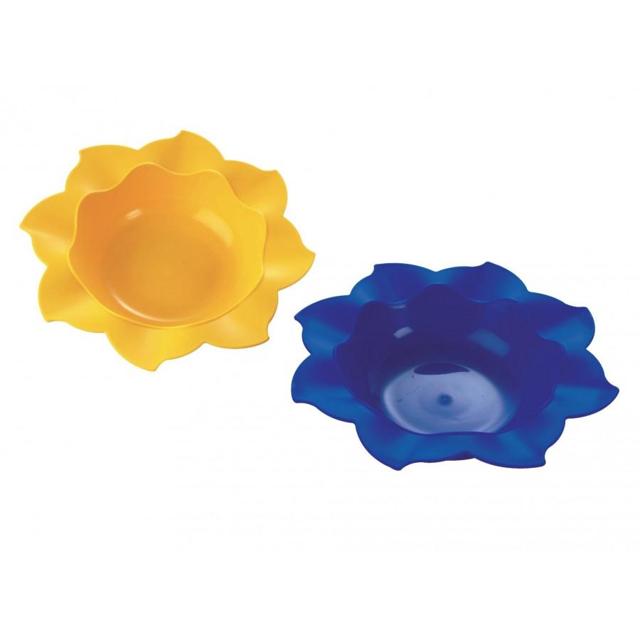 Тарелка-солнышко, желтая, глубокая  Baby-Walz (259926)