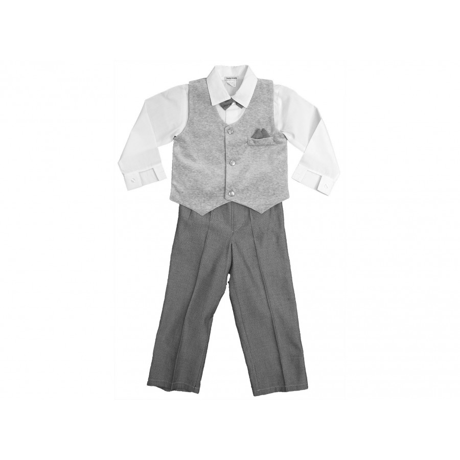 Костюм из 4-х предметов (брюки, рубашка, жилет, бабочка) (658499)