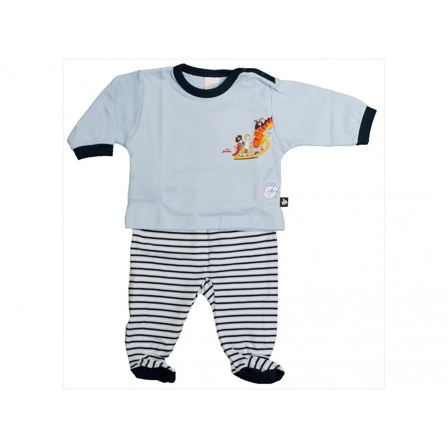 Пижама из 2-х предметов (футболка с длинным рукавом и штанишки) (689238)