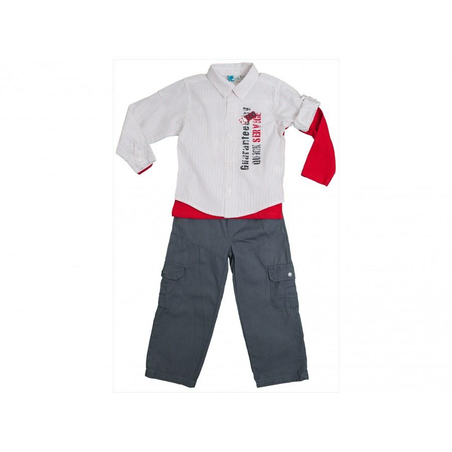 Комплект из 3-х предметов (брюки, рубашка, толстовка) (255683)