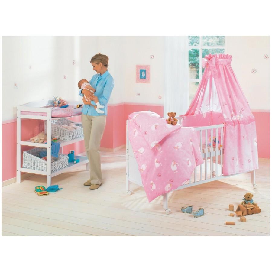 Комплект для кроватки «Овечки» Julius Zoellner (4 предмета: простынка, наволочка, пододеяльник, бортик)  Julius Zoellner (616087)