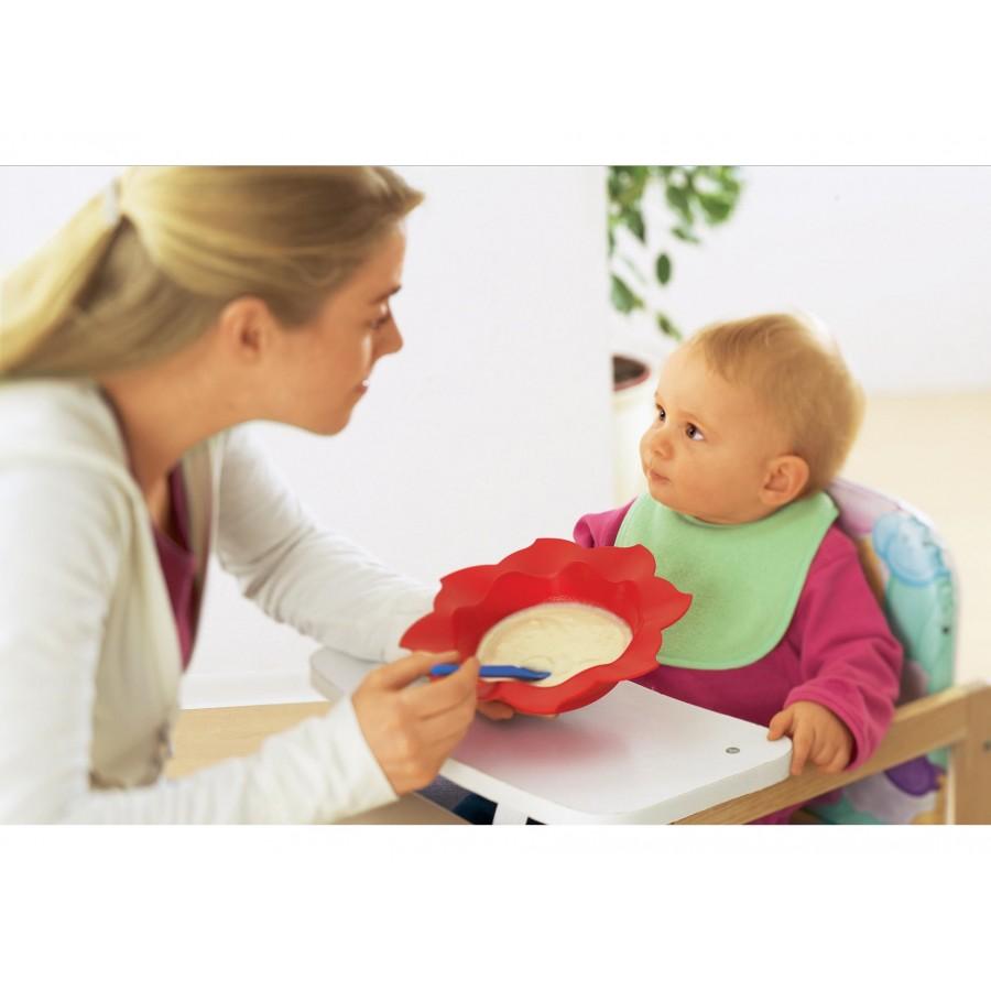 Тарелка-солнышко, красная, глубокая  Baby-Walz (260509)