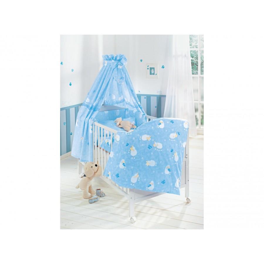 Комплект для кроватки «Овечки» Julius Zoellner (4 предмета: простынка, наволочка, пододеяльник, бортик)  Julius Zoellner (616095)
