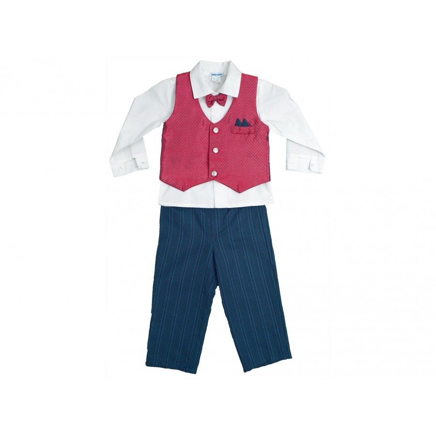 Костюм из 4-х предметов (брюки, рубашка, жилет, бабочка) (663913)