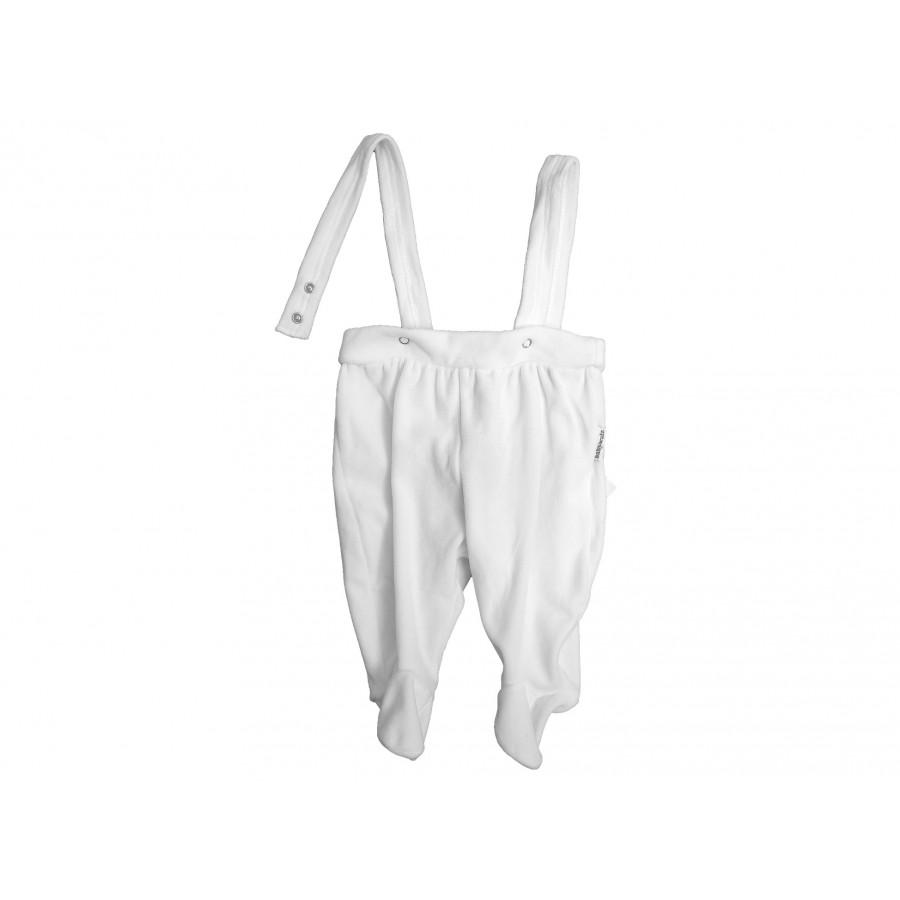 Велюровые ползунки на лямках с носочками (225169)