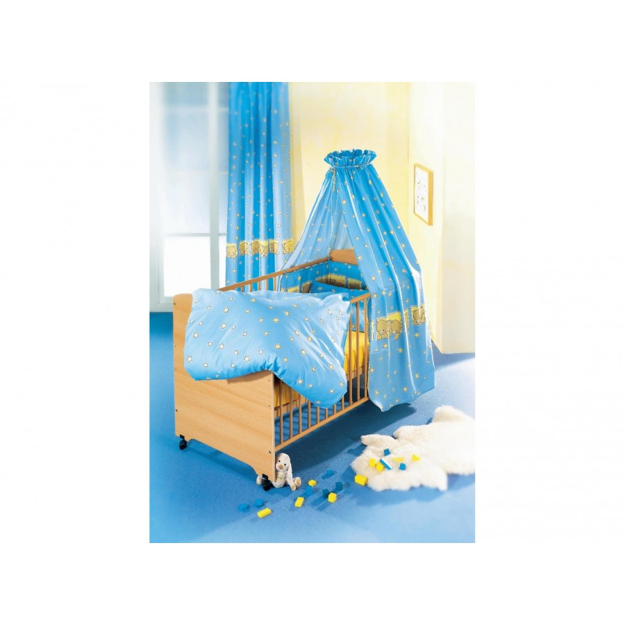 Постельный комплект «Медвежата» (4 предмета: простынка, наволочка, пододеяльник, бортик)  Alvi (602167)
