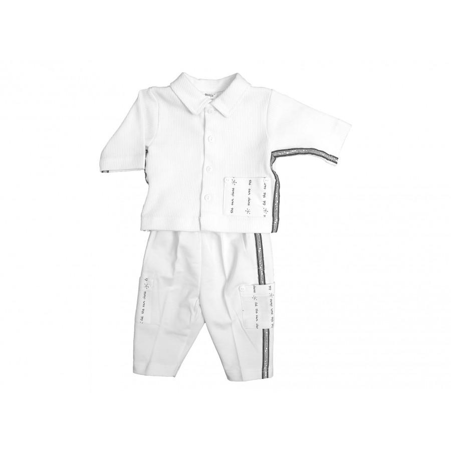 Комплект из 3-х предметов (жакет+футболка+брючки) (244708)