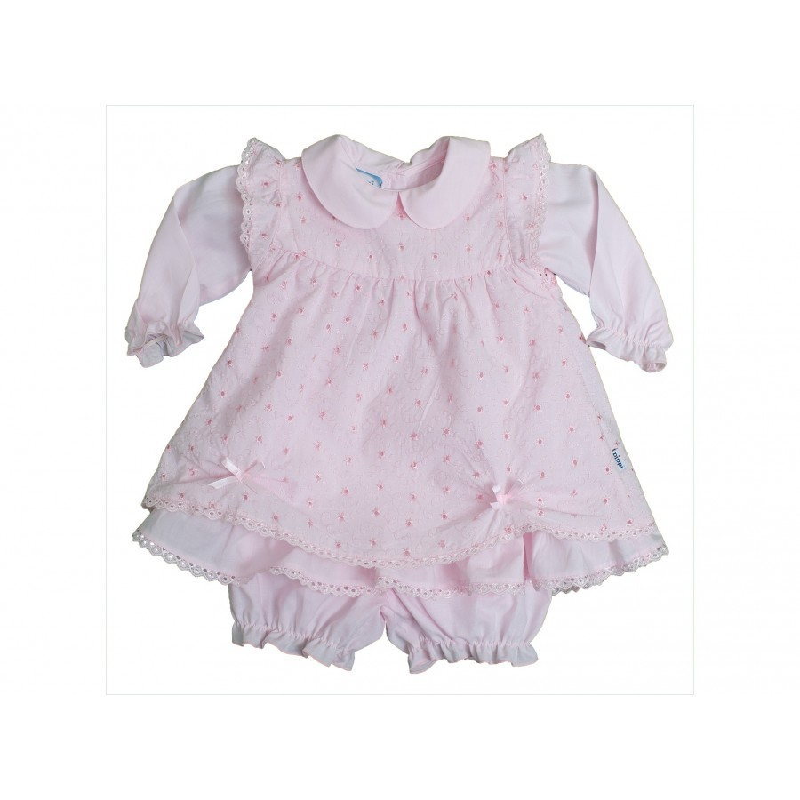 Комплект из 3-х предметов (платье+панталоны+передничек) (668060)