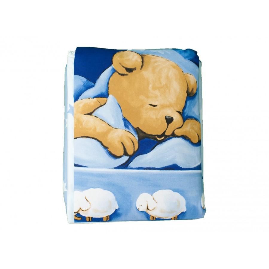 Комплект для детской кроватки «Медвежонок» (наволочка, пододеяльник, бортик и балдахин)  baby best (632759)