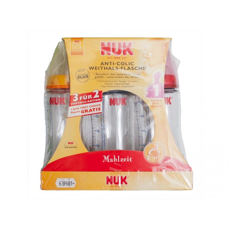 Комплект бутылочек NUK (3 шт.) (639605)