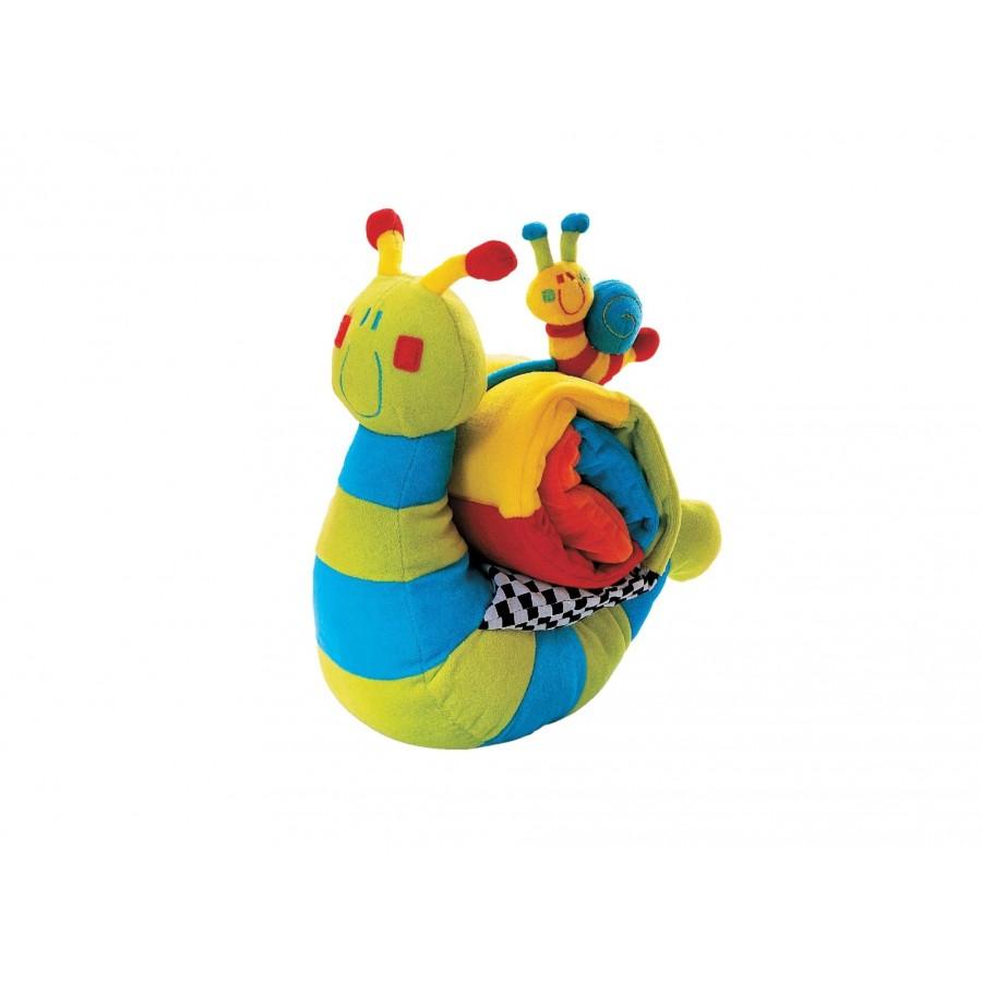 Мягкая игрушка улитка с погремушкой 0+  Baby-Walz (119210)